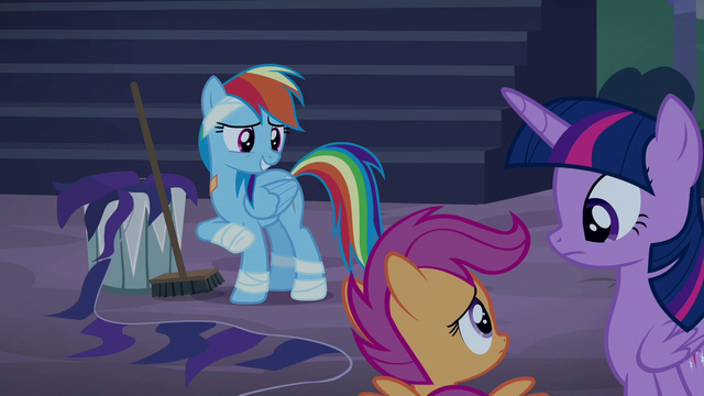 "File:Rainbow Dash ""Spitfire's got me cleaning"" S6E7.png"