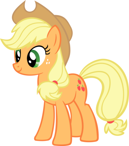 File:FANMADE Applejack smiling.png