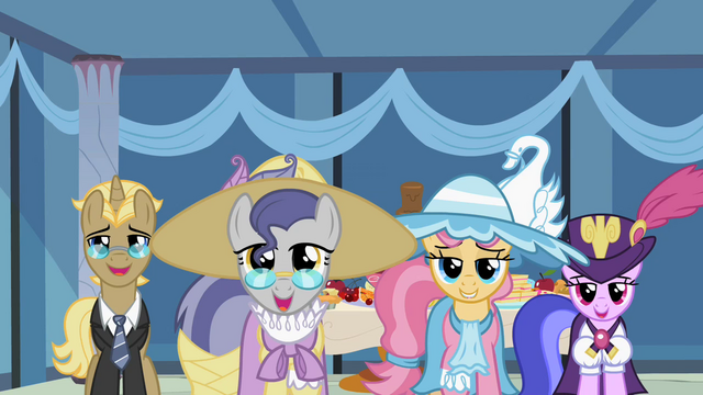 File:The ponies look at Rarity S2E09.png