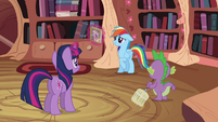 Twilight Sparkle, Spike and Rainbow Dash S2E16