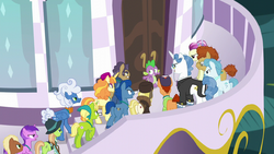 Spike facing an angry mob of delegates S5E10.png