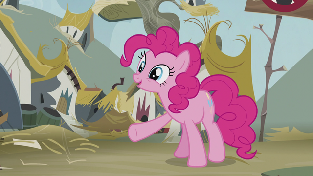 "File:Pinkie ""Nothing cheers folks up like cake!"" S5E8.png"