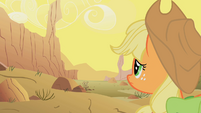 Applejack looks at the desert S1E21