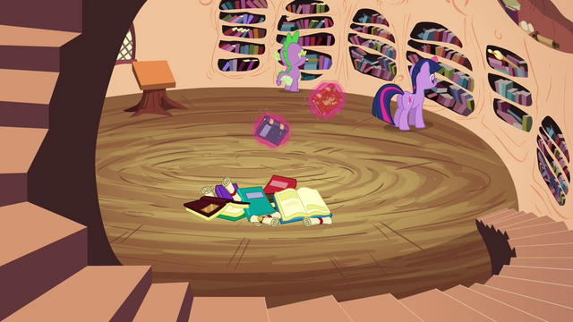 File:Twilight trying to find the book S3E03.png
