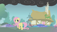 Fluttershy begins to walk away S1E07