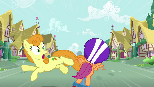 File:Golden Harvest jumping out of Scootaloo's path S3E6.png