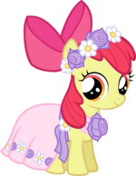 Castle Creator Apple Bloom in a dress