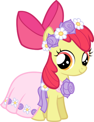 File:Castle Creator Apple Bloom in a dress.png