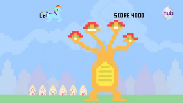 File:Hub Promo - 8 bit commercial Rainbow Dash vs Hydra.png