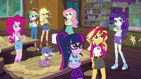 Equestria Girls listening to Celestia's announcement EG4