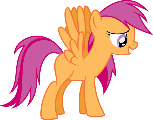 File:FANMADE Scootaloo in Rainbow Dash's model.png