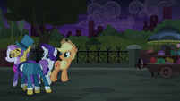 Neighbor and Business Ponies walking off S5E16