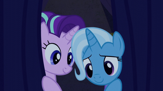 File:Starlight and Trixie peek behind the curtain S6E6.png