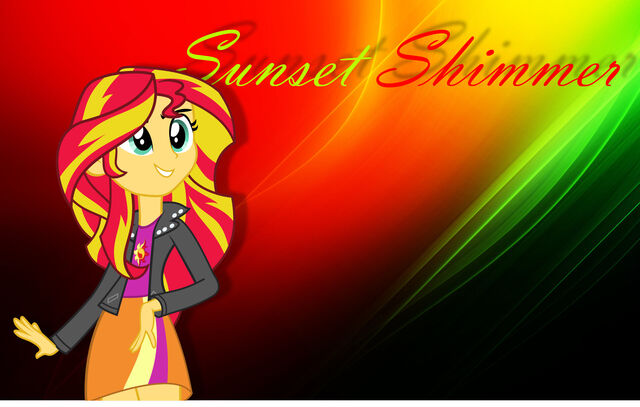 File:FANMADE Sunset Shimmer Wallpaper EG.jpg
