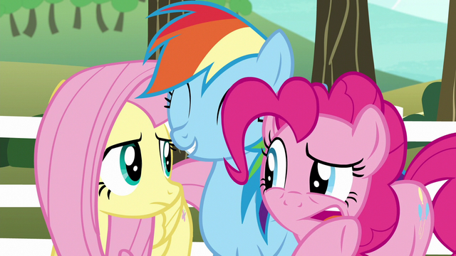 File:Pinkie Pie whispering to Fluttershy S6E18.png
