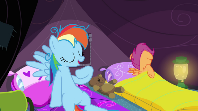 File:Rainbow Dash 'but I slept like a filly' S3E06.png