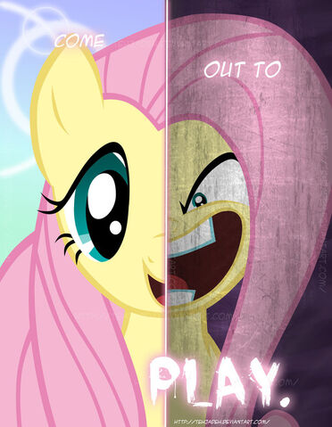 File:FANMADE 2 sides of Fluttershy.jpg