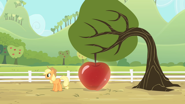 File:Applejack reveals a big apple S4E07.png