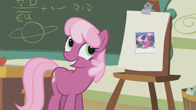 File:Cheerilee acknowledging ludicrous mane S1E12.png