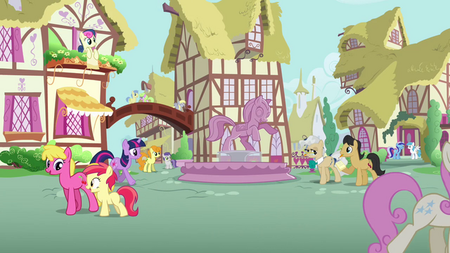 File:Ponies walking through Ponyille S3E13.png