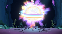 The ball of magic back at the Tree of Harmony S4E26
