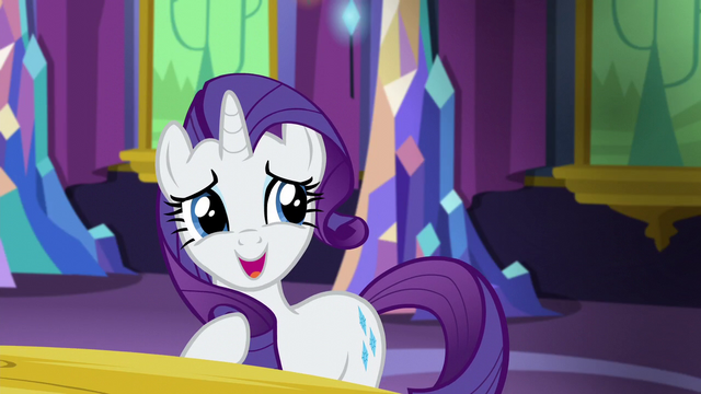 "File:Rarity soft chuckle ""is that all?"" S5E3.png"