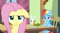 Fluttershy's frustrated scowl S6E11