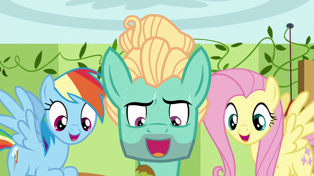 File:Fluttershy, Zephyr, and Rainbow singing together S6E11.png