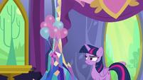 Twilight Sparkle annoyed by Discord's antics S7E1