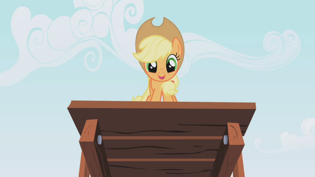 "File:Applejack ""Here I go!"" S01E04.png"