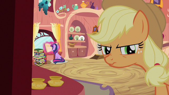 File:Applejack thinking up S3E9.png