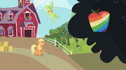 Granny Smith cheering zap apple S2E12