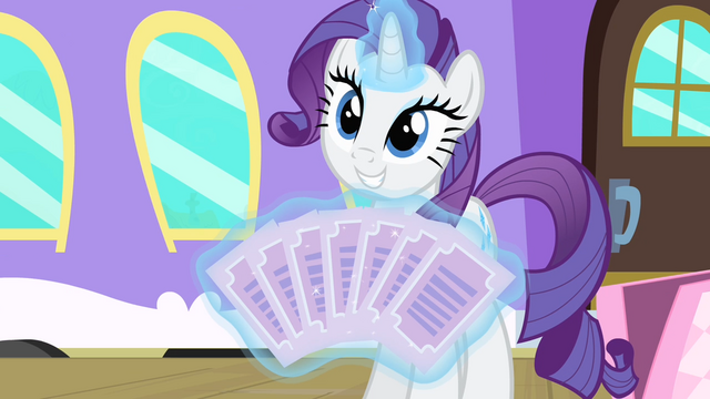 File:Rarity showing the tickets S4E08.png