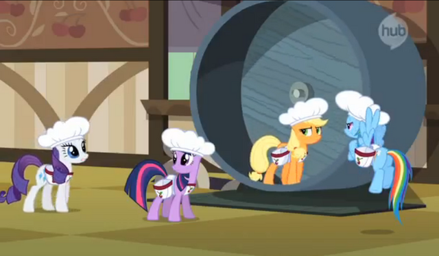 File:Twilight, Rainbow, and Rarity question Applejack S2E14.png