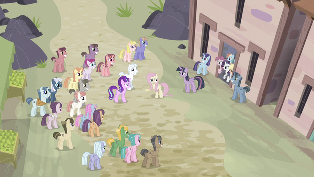 "File:Fluttershy ""with these lovely ponies"" S5E02.png"