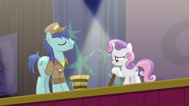 File:Janitor pony and Sweetie Belle on stage S5E4.png