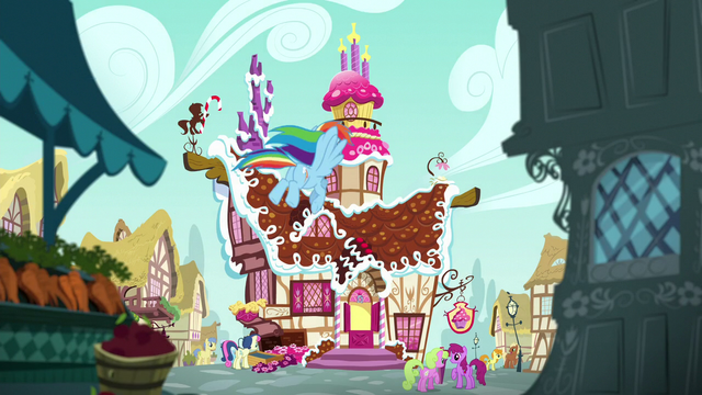 File:Rainbow Dash flying to Sugarcube Corner S6E15.png