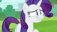 Rarity trying to hide a secret S6E3
