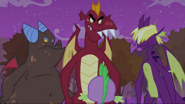 File:Dragons in front of Spike S2E21.png