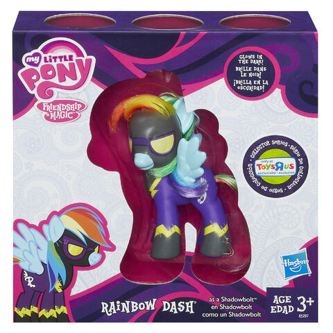File:MLP Collector Series Shadowbolt Rainbow Dash toy and packaging.jpg