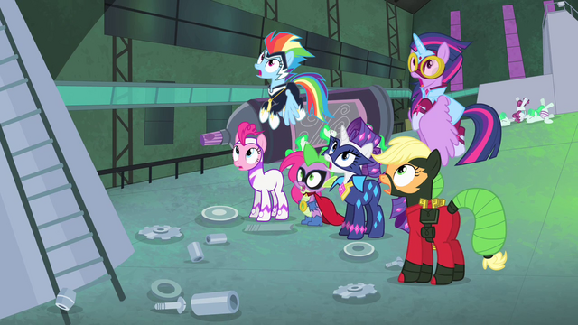 File:Power Ponies with mouths agape S4E06.png