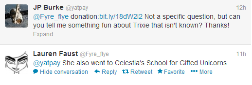 File:Lauren Faust Twitter Trixie Celestia School of Gifted Unicorns 2013-05-02.png