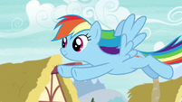Rainbow flies through Ponyville S6E7