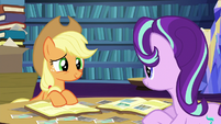 Starlight and Applejack scrapbooking together S6E21