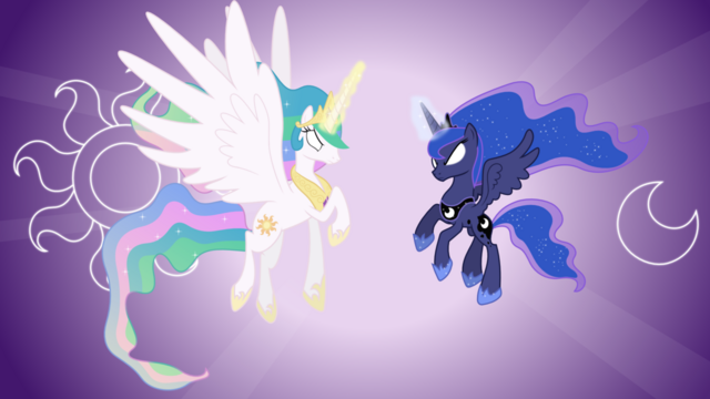 File:FANMADE Celestia and Luna with glowing eyes.png