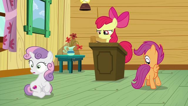 File:Sweetie Belle hears Apple Bloom S6E4.png