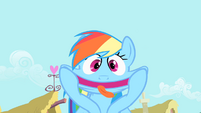 Rainbow Dash making funny face S1E22