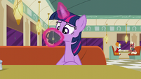 Twilight sips a drink S6E9