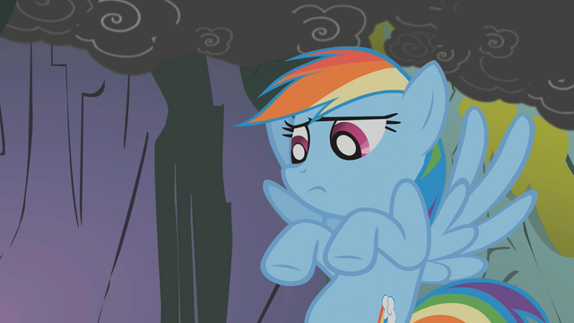File:Rainbow Dash about to facehoof S1E7.png
