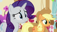 Rarity and AJ hears Twilight S5E11